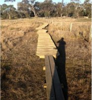 Tangara Trail - New Boardwalk on Clear Lagoon; Source; Land Manger August 2014 Report