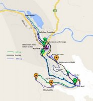 NRM North Raft Run Ride Route Map 2015