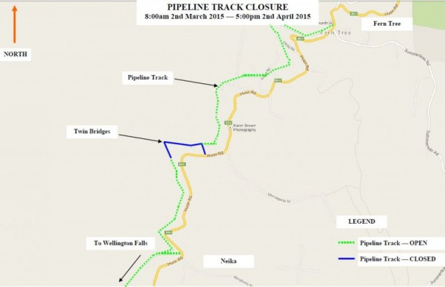 Pipeline Track closure extended to 2 April 2015