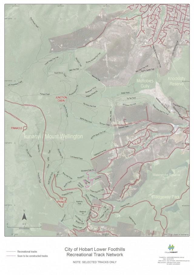 kunanyi/Mt Wellington Lower Slopes Tracks/ Trails Survey